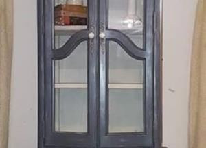 SOLD!! -Petite Lighted Curio Cabinet - $225